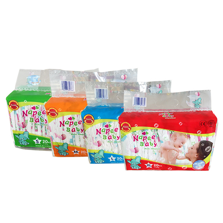 Brand Breathable clothlike magic tape soft care comfy diapers for children