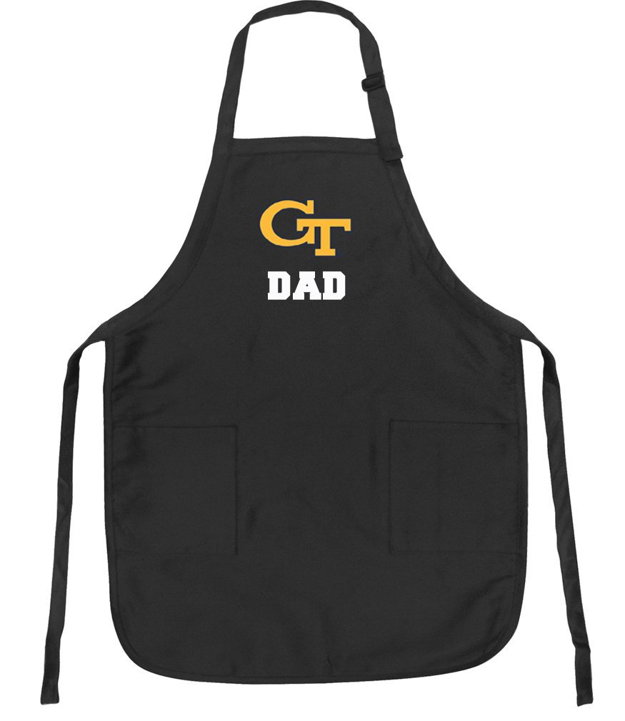 Official Georgia Tech Dad Aprons Deluxe Yellow Jackets Dad Apron w/ Pockets