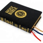 Sewn Binding Bible paper holy custom Leather Hardcover Bible Book Printing