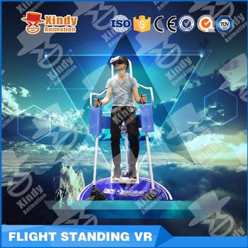b06f39d683bad 2017 Étonnantes de réalité virtuelle 4d simulation Parc d attractions  Simulateur vr Lunettes Vol Debout