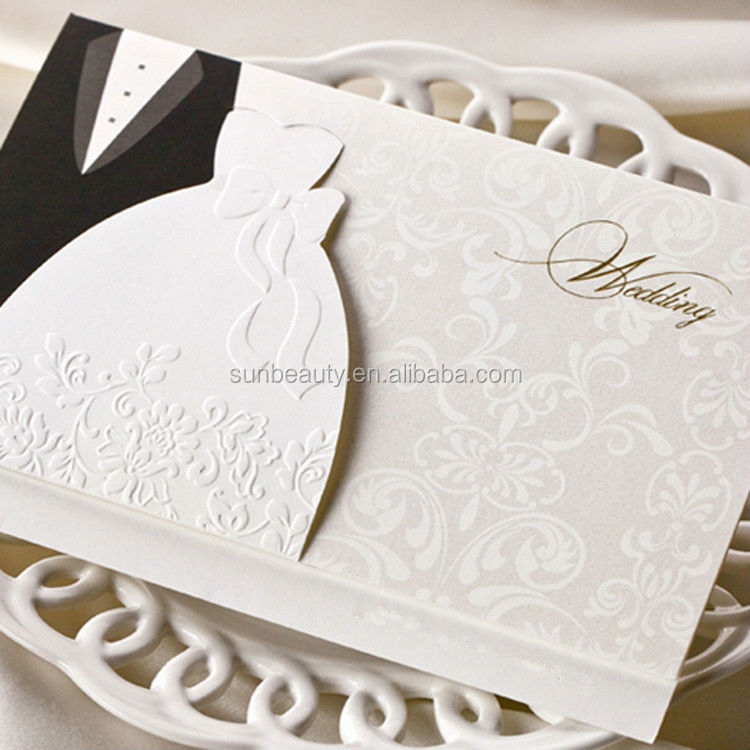 Newest 3d Wedding Invitation Card Black And White Butterfly Wedding ...