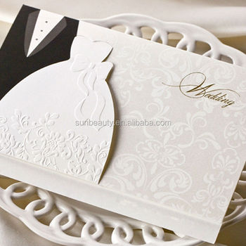 Newest 3d Wedding Invitation Card Black And White Butterfly