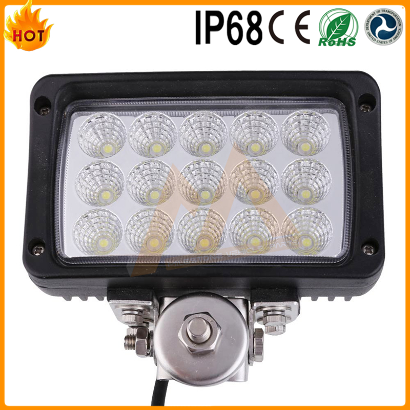 One Year Warranty Rectangle 3rows 45w truck driving light hot sale led work lamp