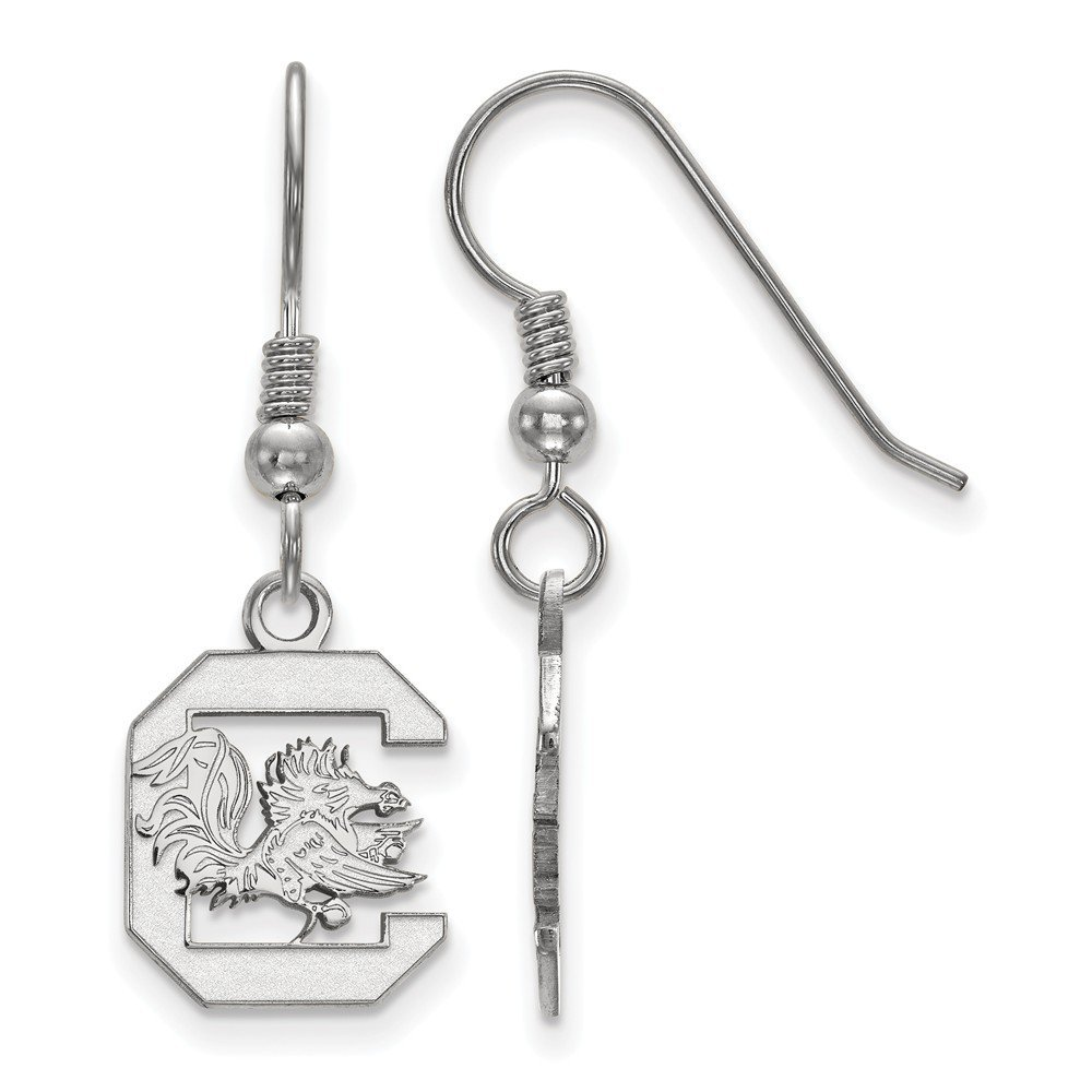 University of South Carolina Gamecocks Small Dangle Earrings in Sterling Silver
