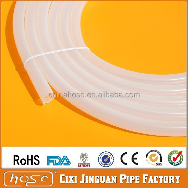 China Manufacturer Supply FDA Food Grade Steam Cleaner Hose, 9x14mm Silicone Rubber Tube Hose, UV Resistance Silicone Tube