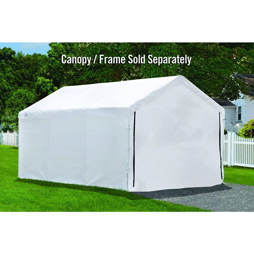 20 ft. x 20 ft. White/Green Enclosure Kit with Windows for Party Tent (Party Tent Sold Separately)