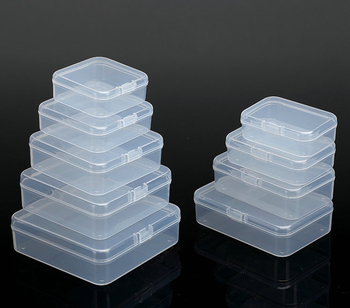 Plastic Box Storage Small With Hinged Lid For Packing