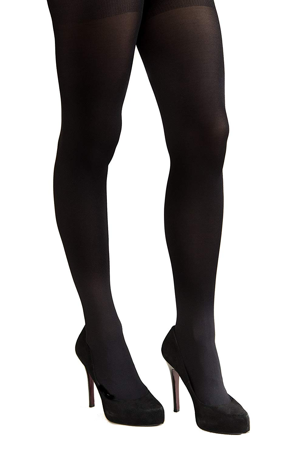 c45146892f2cb Get Quotations · Coquettes Women's Silky Opaque Total Control Top Tights  Nero