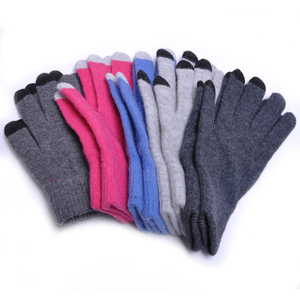 Winter soft Gloves 3 Fingers Touch screen Glove Customized designs 5 Fingers Winter Acrylic gloves