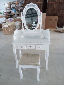 Capri | Dressing Table, Mirror U0026 Stool Set| Premium Quality | Laura James |