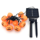 Outdoor String Lights with Solar Panel, IP65 Waterproof Solar Powered Pumpkin Lamp Decoration for Halloween Wholesale