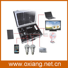 CE Certificate support TV,Tablet,mobile phone ,fan ,lights Solar Energy System