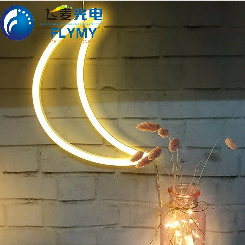 Indoor Illuminated palm tree heart love neon lighting for home decoration
