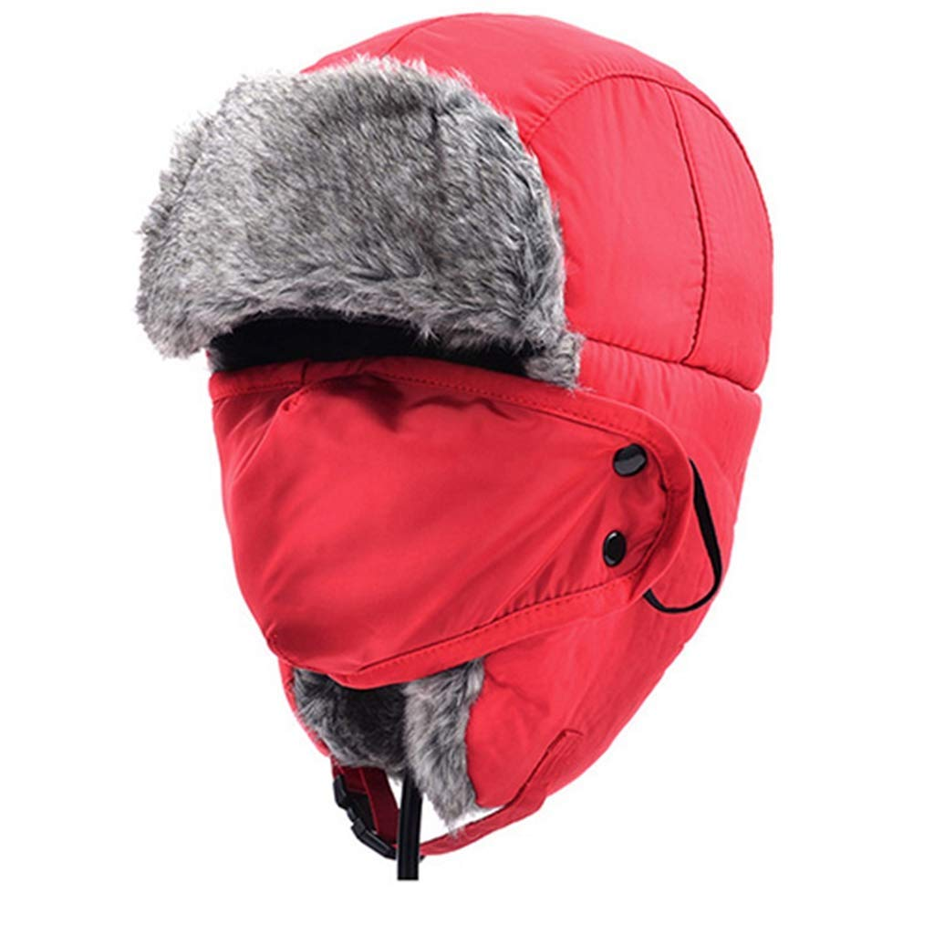 49aac1f33326c Get Quotations · Winter Trooper Hat Windproof Ski Hat with Ear Flaps and Mask  Warm Hunting Hats for Men