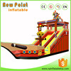 Bule Ocean 0.55 mm PVC Hippo Giant Inflatable Water Slide For Adults