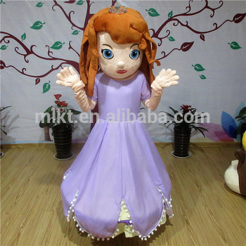 Factory direct sale cartoon character princess sofia mascot costume for adult : princess sofia costume for adults  - Germanpascual.Com