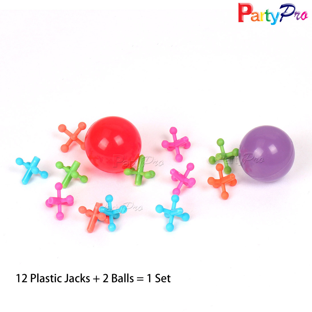 Premium Quality 12 Jacks and Ball Set High Bouncing Kids Toy Rubber Ball for Friends