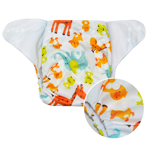China wholesale reusable printed baby cloth diapers,plastic snap Washable baby diaper nappy