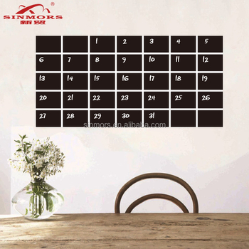 custom calendar planner self-adhesive dry erase printed vinyl