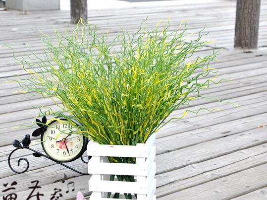 Mini Artificial Green Fresh Plantlet Plastic Grass Bush Plant Home Decoration Flowers, free shipping spring grass  MA1710