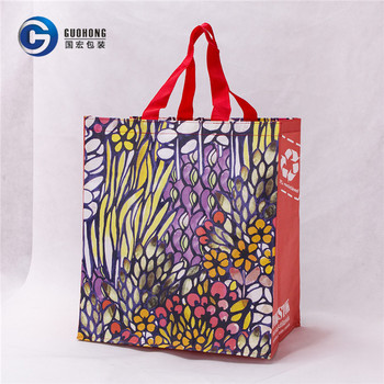 Wenzhou Hot Sale Gift Item Custom Laminated Pp Woven Bag For Shopping