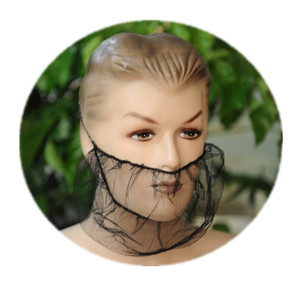 Disposable Protective Nylon Mesh Beard Guard for Food Service