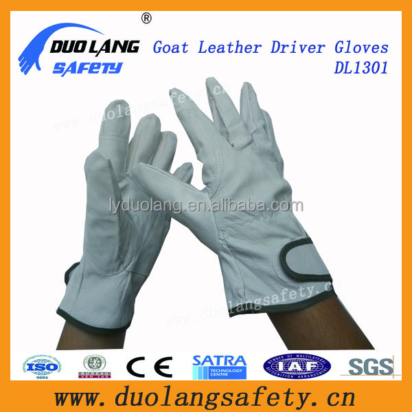 blue cow split leather glove Reinforced wheelchair gloves