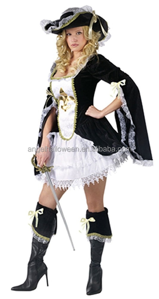 Extremely famous cospaly musketeer costume made in china for adults AGC1508