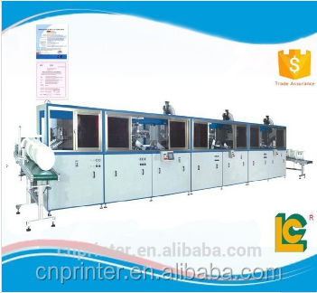 Multi-color full Automatic used cylinder screen printing machine for large size buckets with fast speed