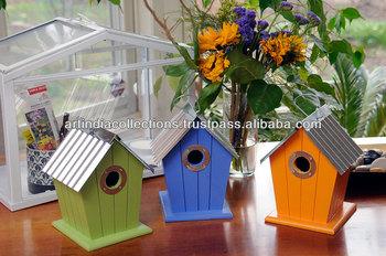 Bird House Tree Cage Hanging Metal