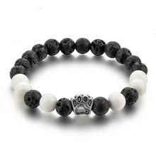 CHICVIE животное натуральный камень браслет браслеты собака рука лапа эластичный веревка браслет из бисера для мужчин и женщин ювелирные изде...(Китай)
