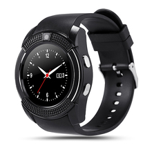 Wholesale mobile phone V8 smart watch with camera,Cheap smart watch with SIM