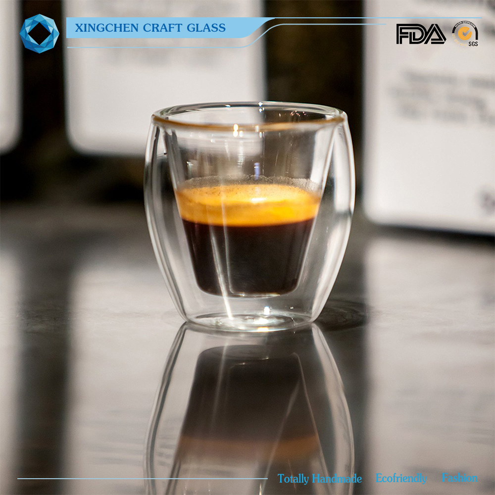 2 oz Double Wall Glass cups for Espresso or Spirits