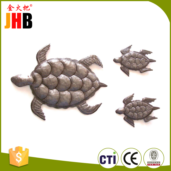 Customized outdoor metal turtle wall art with CE certificate