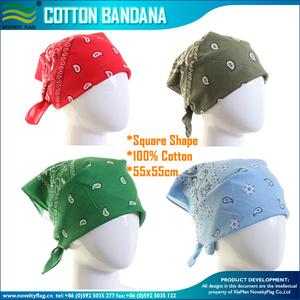 Full Color Polyester Silk Satin Printing Bandanas