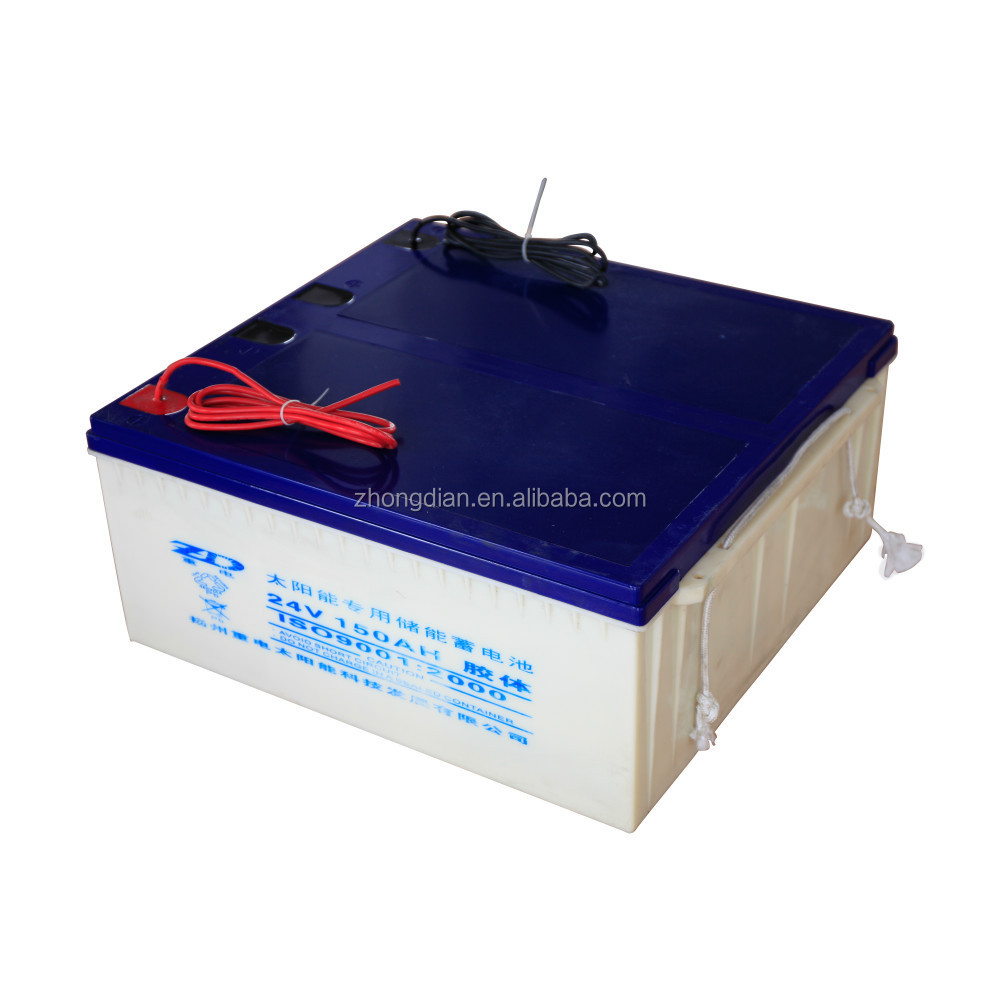 24v solar battery 150ah for off-grid system