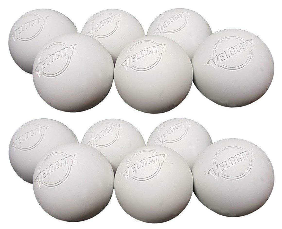Velocity 12 Pack Lacrosse Balls for Adults & Kids: Official Size for Professional, College & High School. NOCSAE, NCAA, NFHS Certified. Colors: Yellow, Orange & White.