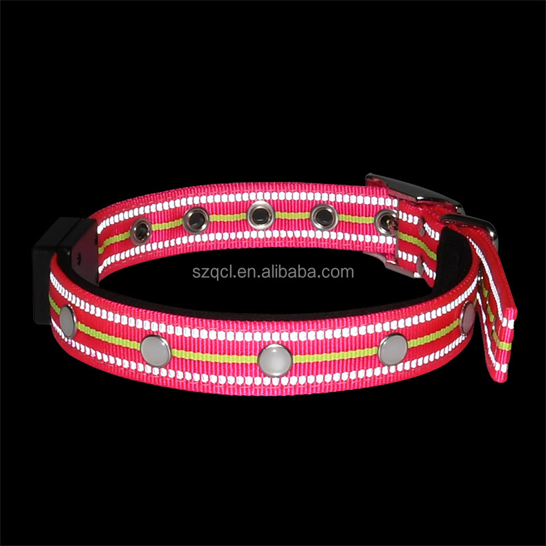 Waterproof LED Dog Collar Rechargeable Flashing Pet Collars for Dogs Keep Your Dog from Being Stepped On