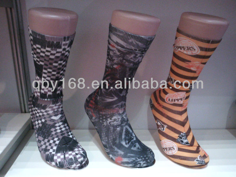 Custom animal pattern football men's calf socks