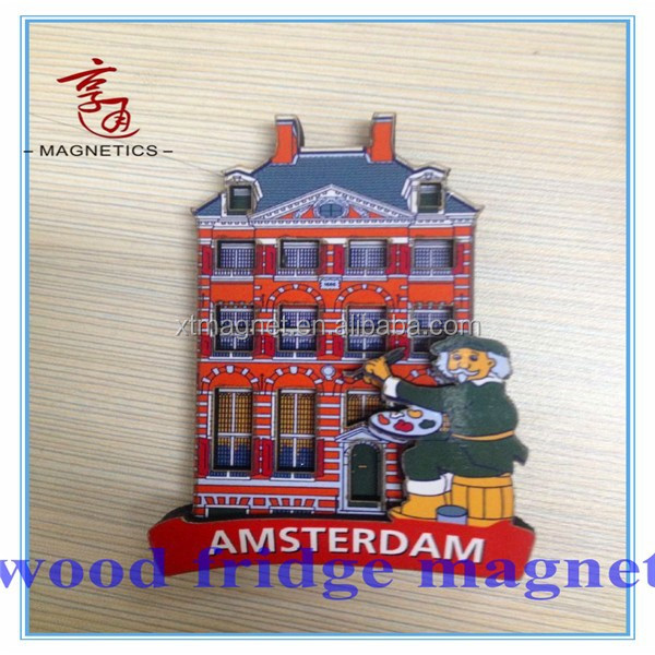 Tourist Souvenir 3D Wooden Fridge Magnet/custom 3d fridge magnets/souvenir fridge magnet