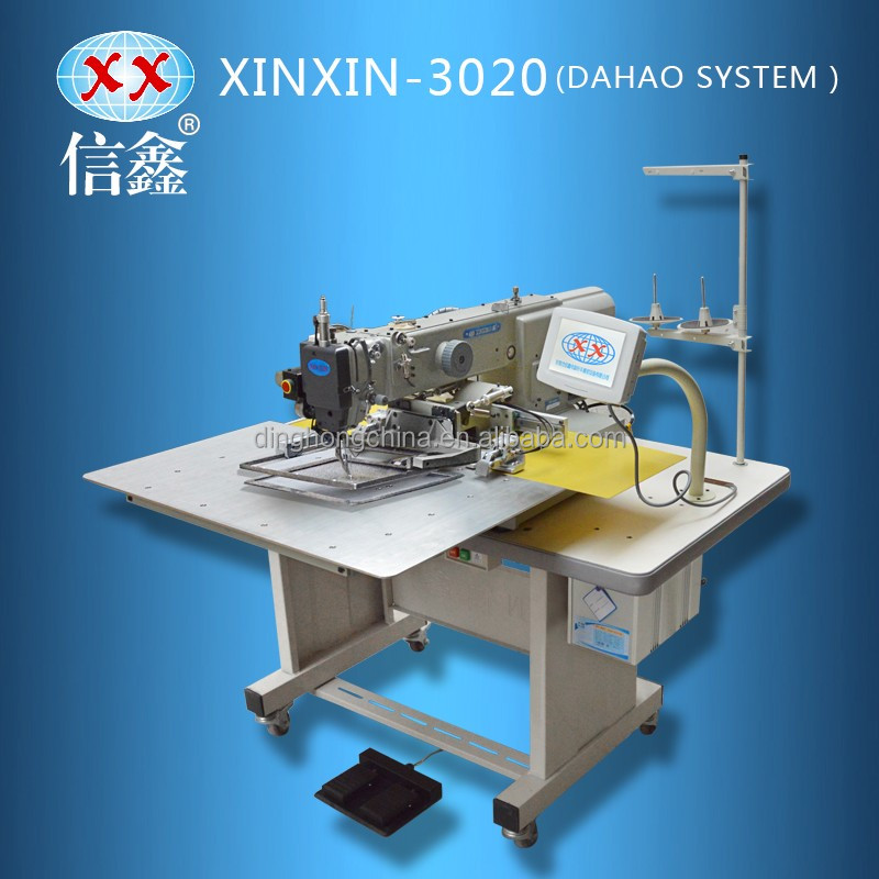 New high-effective computer pattern machine factory outlet textile shoes sewing machine XX-3020