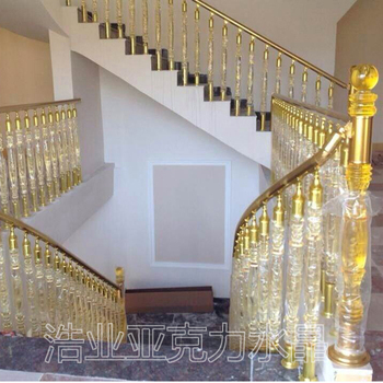 Good Plexiglass Material Stainless Steel Stair Railing