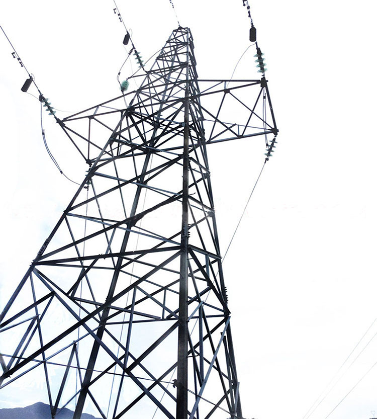 Over head line OHL electric power transmission steel pylons
