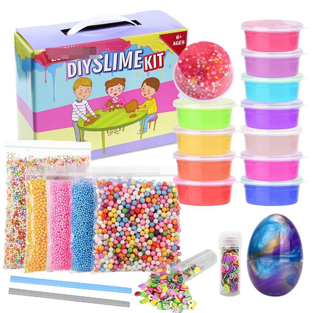 Clear Crystal Slime Kit With Foam Beads,Slime Making Kit For Girls Boys  Kids - Buy Girls Make Up Kit,Slime Making Kit,Slime Supplies Product on