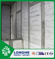 Steel structure Eps cement composite board hangable cost/energy/space saving office wall partitions