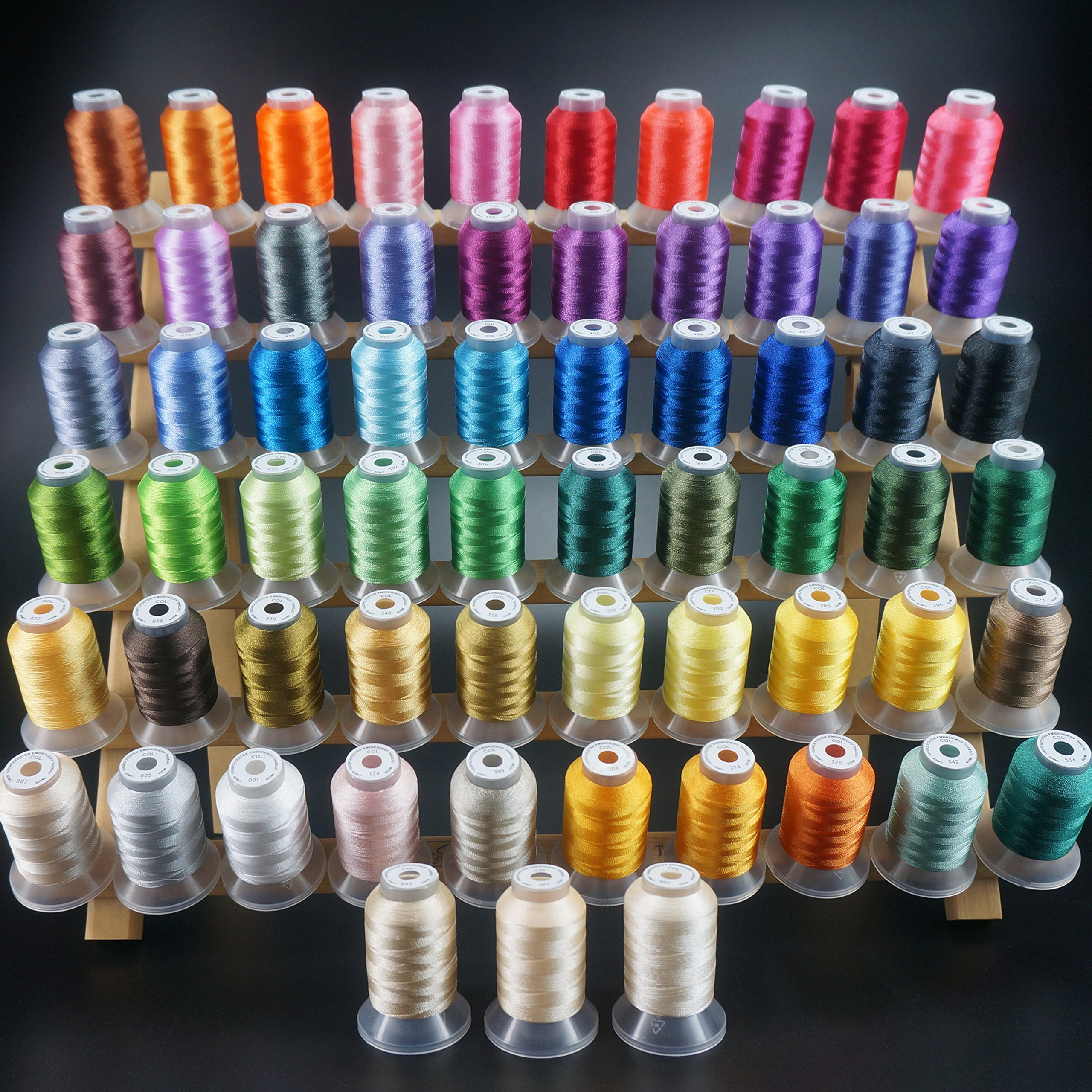 Buy New Brothread 63 Brother Colors Polyester Embroidery Machine