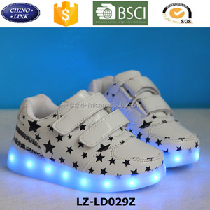 Kid All Star Luminous Sneakers USB Charging Lighted LED Shoes Kids , Shining Casual soft PU led light up Running Kid Shoe
