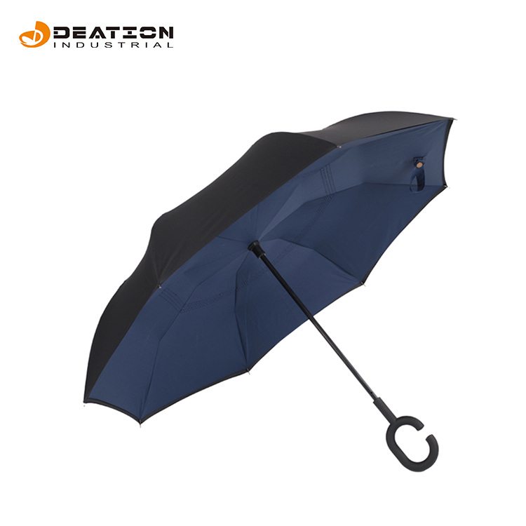 Personalize a dobra invertida invertida Windproof do guarda-chuva 3 da chuva automática dobro do logotipo