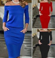Fashion hot selling women dress pure color design strapless skirt ladies new dress