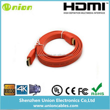 10FT 3M Flat HDMI Cable v1.4 M to M High Speed with Ethernet Full HD 1080p